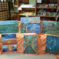 В Кумьязинской СМБ выставка рисунков