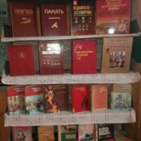 """Мишкинская сельская библиотека подготовила книжную выставку """" И мужество, как знамя, понесли"""""""
