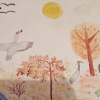 В Асавской сельской модельной библиотеке прошла выставка рисунков «Золотая осень»