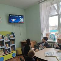 """Сегодня у нас прошел познавательный час """"Эра по имени Гагарин"""", посвященный Дню космонавтики."""